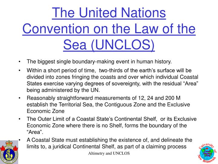 The united nations convention on the law of the sea unclos