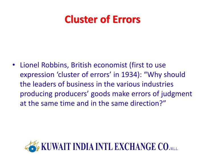 Cluster of Errors