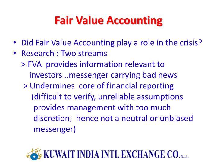 Fair Value Accounting