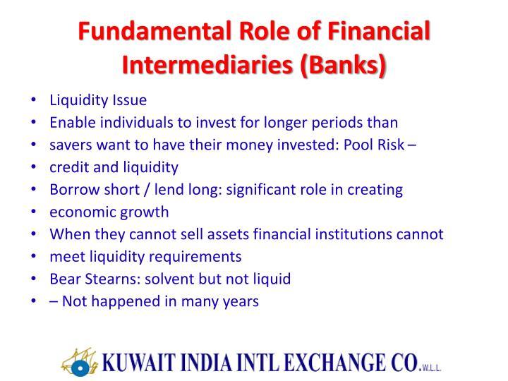 Fundamental Role of Financial