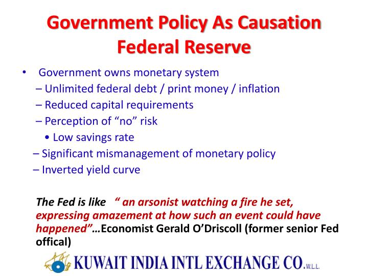 Government Policy As Causation