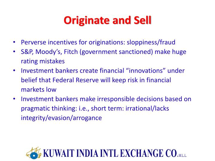Originate and Sell