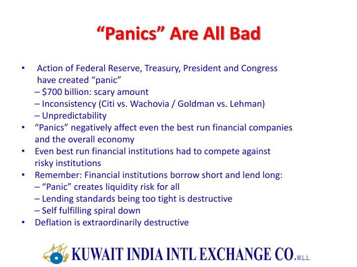 """Panics"" Are All Bad"