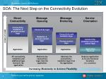 soa the next step on the connectivity evolution