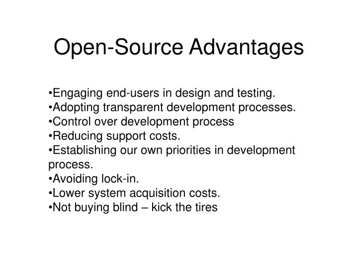 Open-Source Advantages