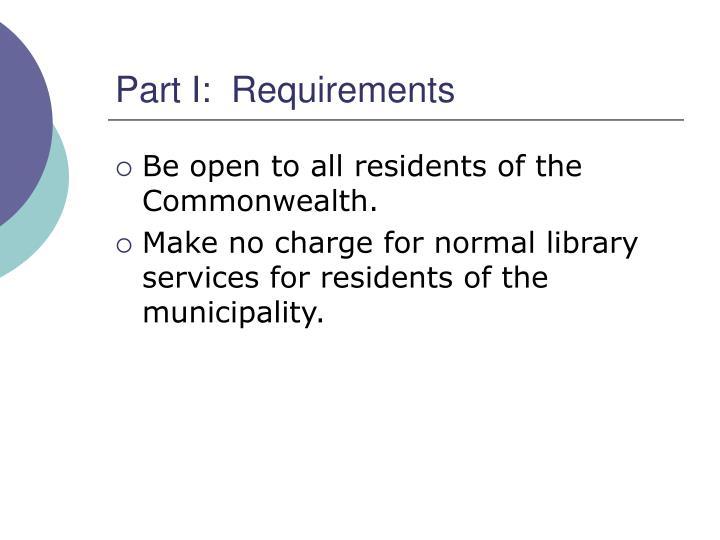 Part i requirements1