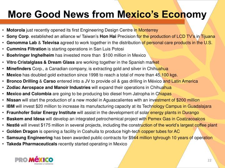More Good News from Mexico's Economy