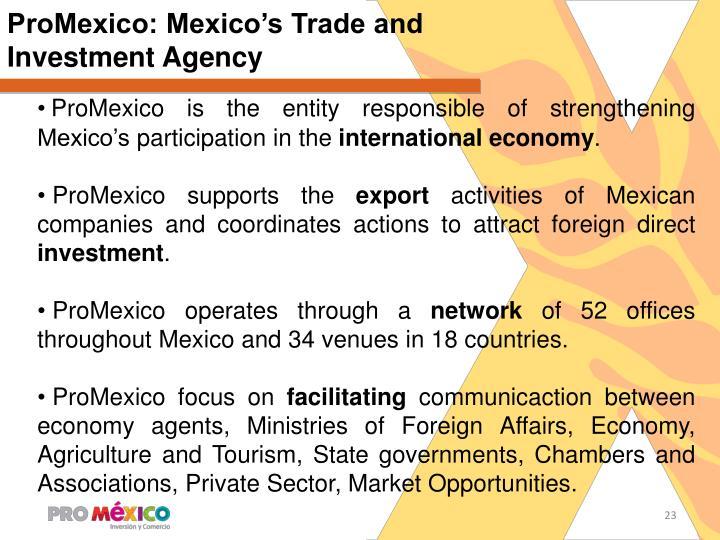 ProMexico: Mexico's Trade and