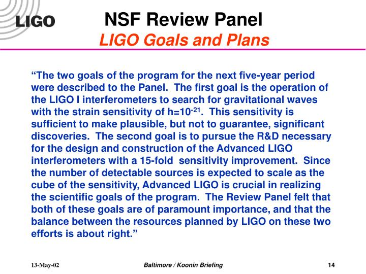 NSF Review Panel