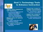 goal 1 technology tools to enhance instruction