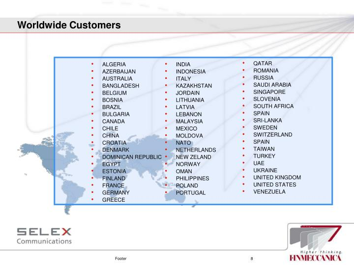 Worldwide Customers