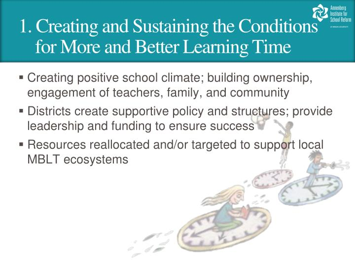 1. Creating and Sustaining the Conditions