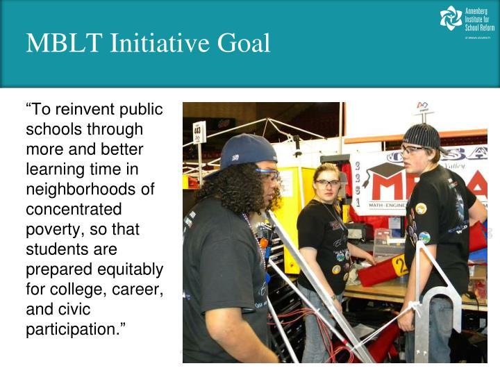 Mblt initiative goal