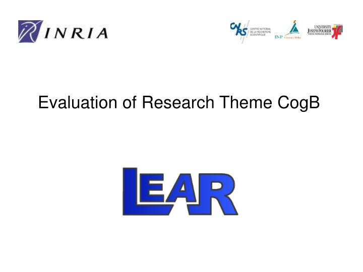 Evaluation of research theme cogb