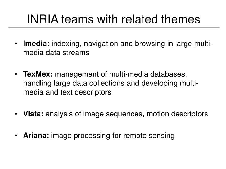 INRIA teams with related themes