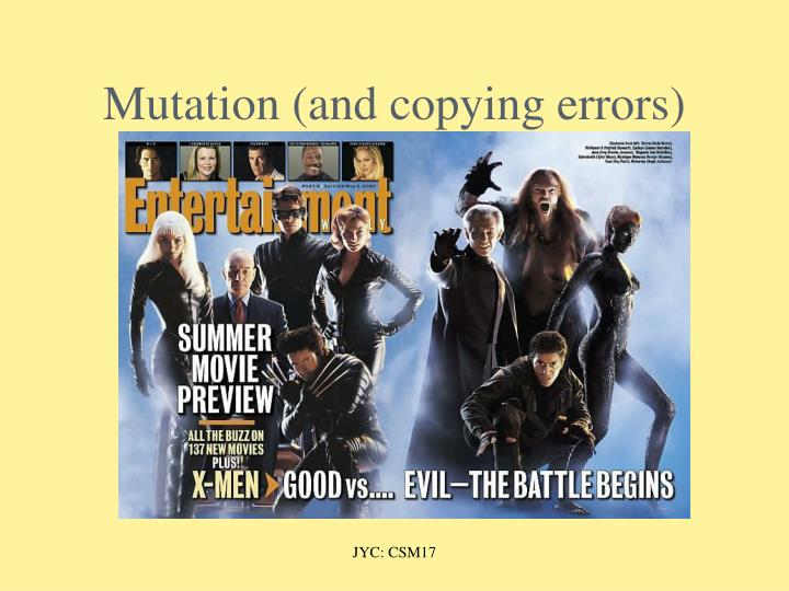 Mutation (and copying errors)