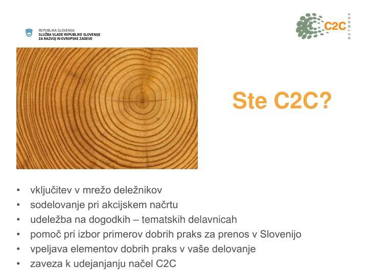 Ste C2C?