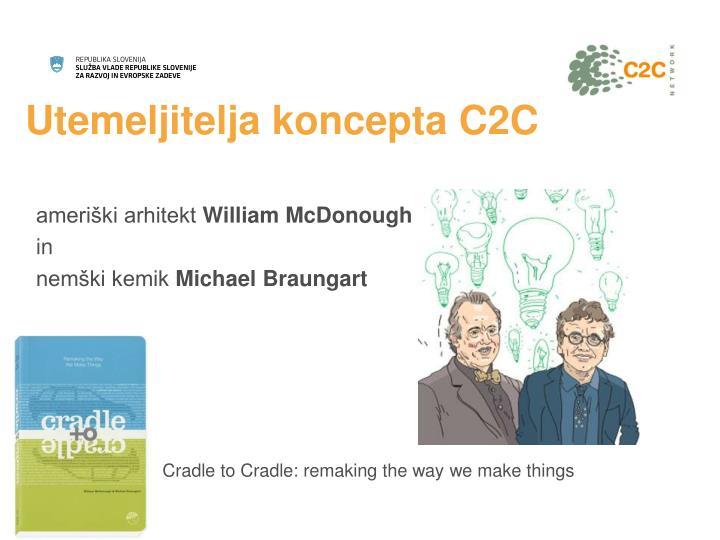 Utemeljitelja koncepta c2c