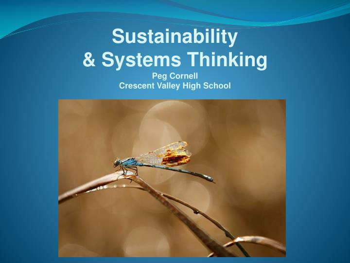 sustainability systems thinking peg cornell crescent valley high school