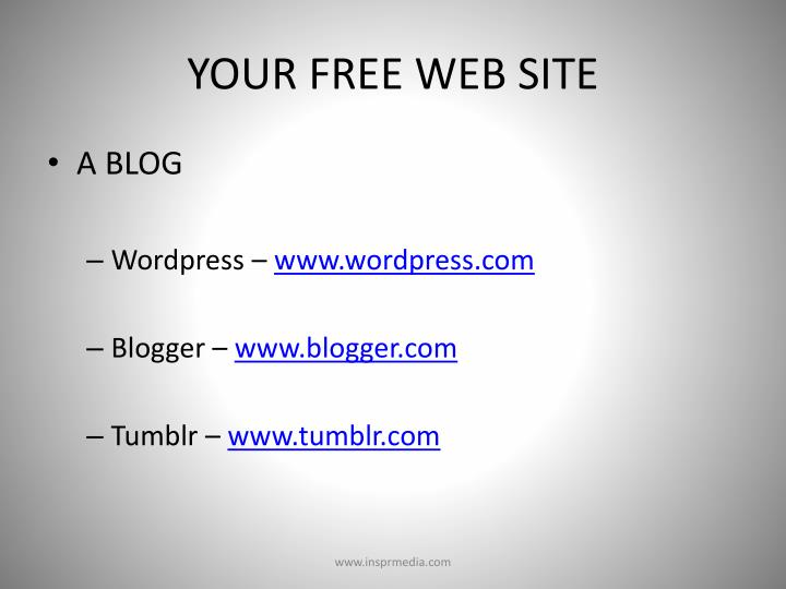 YOUR FREE WEB SITE