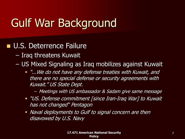 Gulf War Background