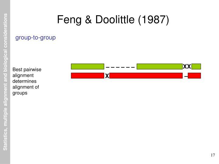 Feng & Doolittle (1987)