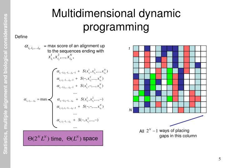Multidimensional dynamic programming