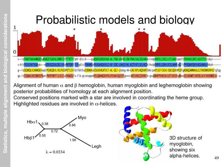 Probabilistic models and biology