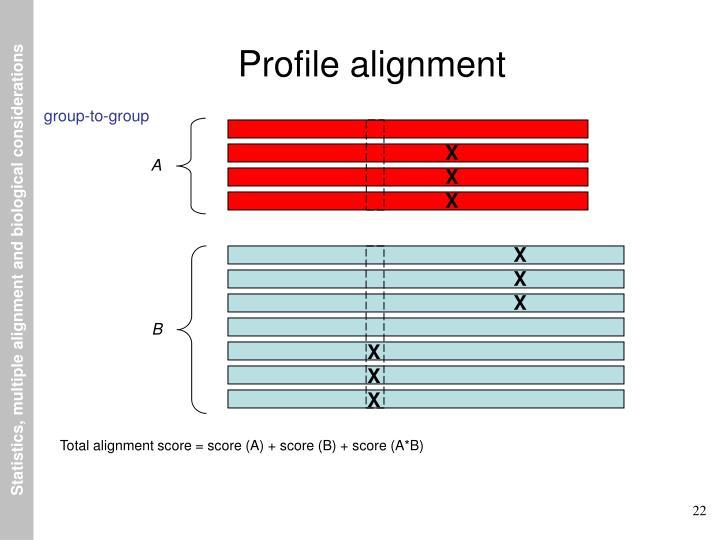 Profile alignment