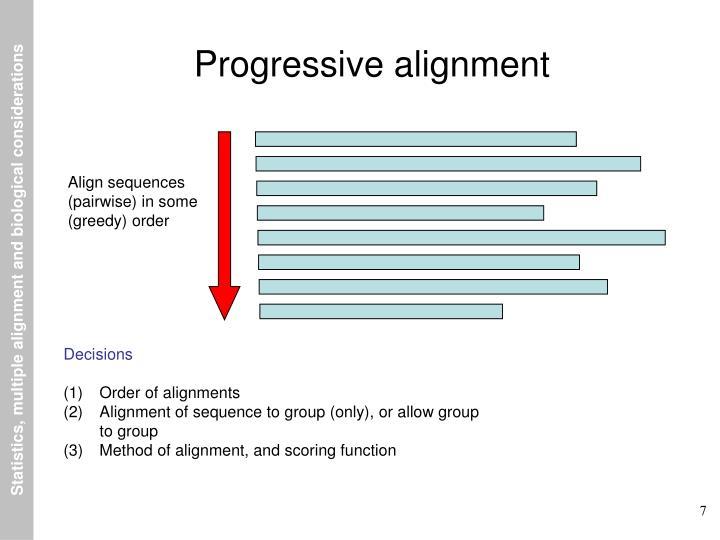 Progressive alignment