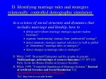 d identifying marriage rules and strategies relationally controlled demographic simulation