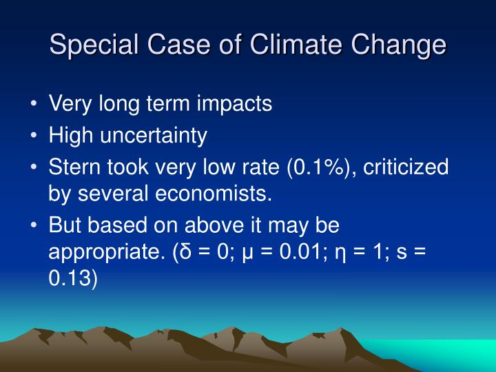 Special Case of Climate Change