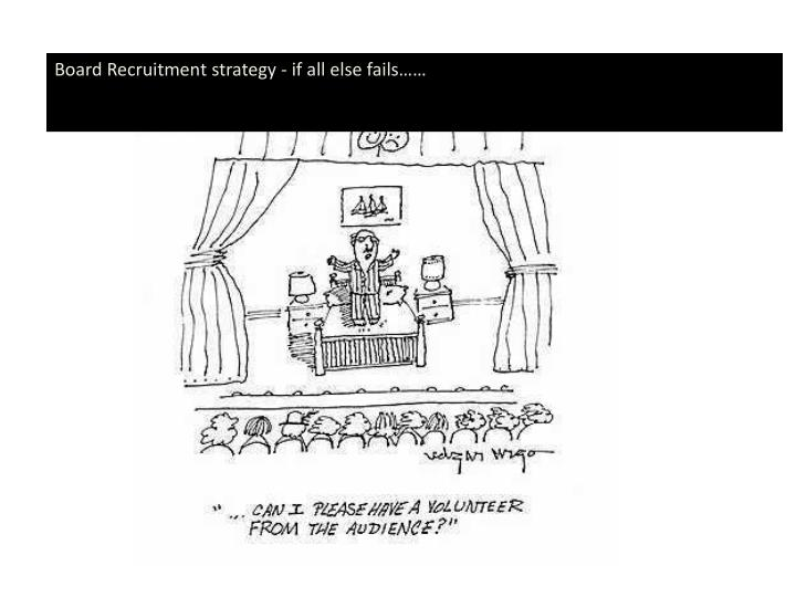 Board Recruitment strategy - if all else fails……