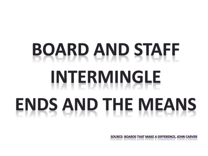 Board and staff