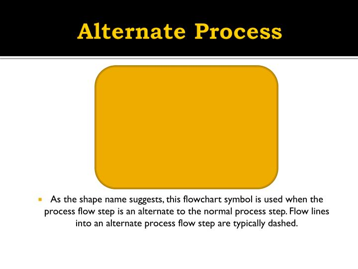 Alternate process