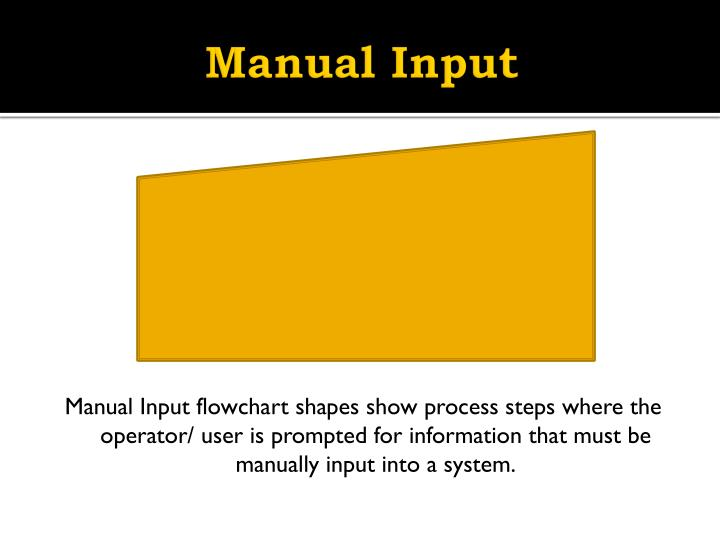 Manual Input