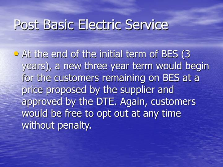 Post Basic Electric Service