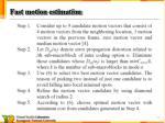 fast motion estimation1