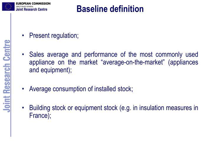 Baseline definition