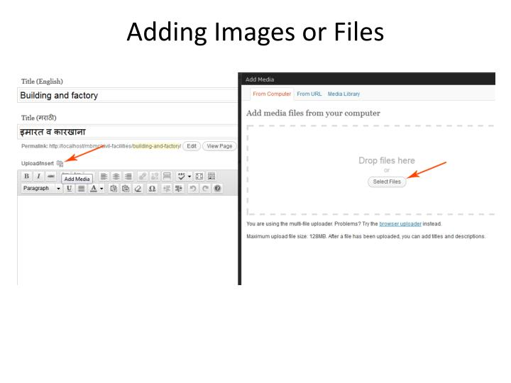 Adding Images or