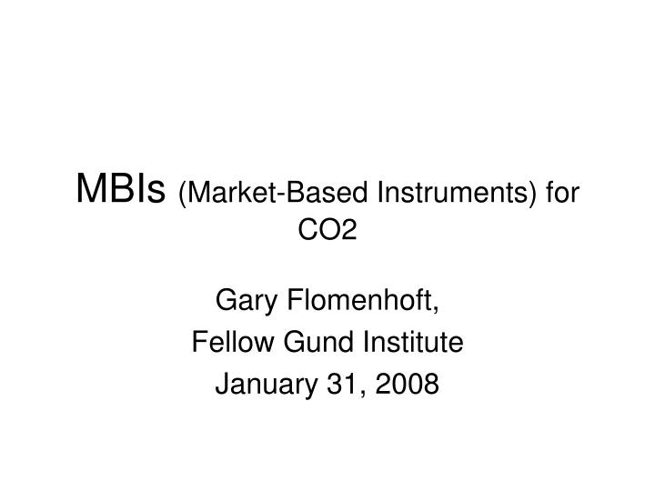 mbis market based instruments for co2 n.