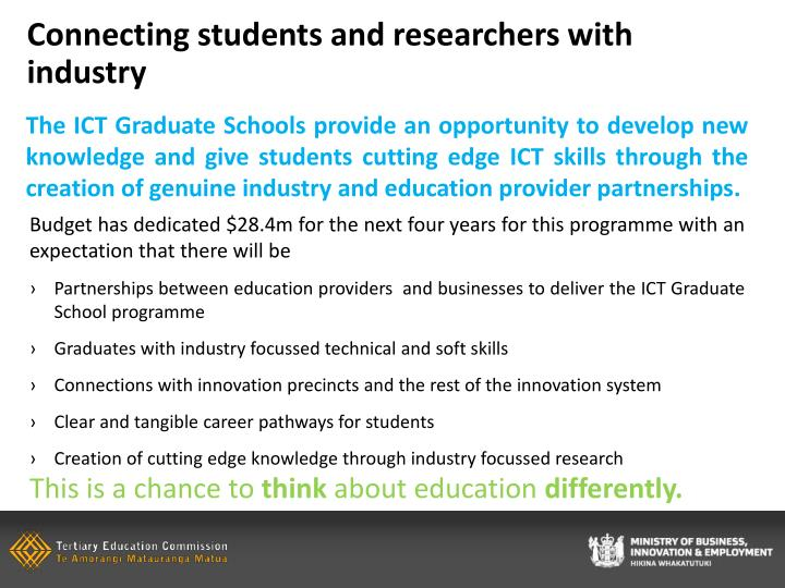 Connecting students and researchers with industry