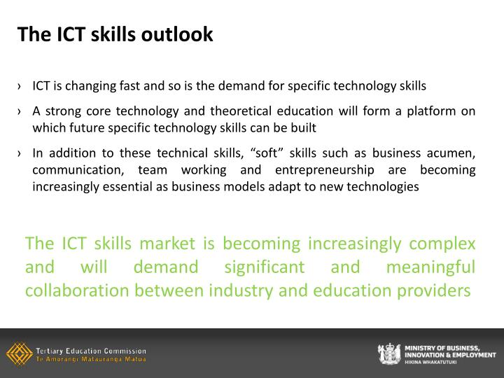 The ICT skills outlook