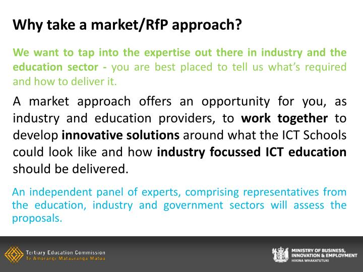 Why take a market/RfP approach?