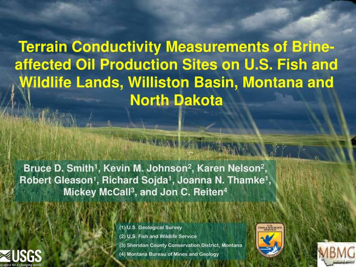 Terrain Conductivity Measurements of Brine-affected Oil Production Sites on U.S. Fish and Wildlife L...