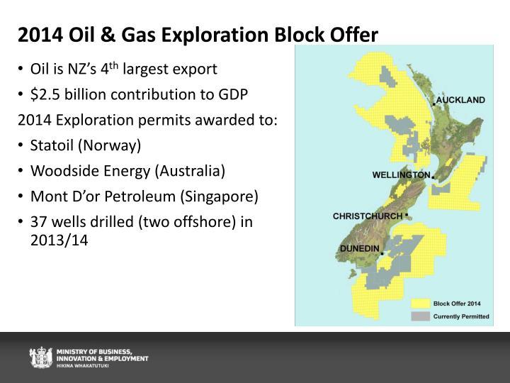 2014 Oil & Gas Exploration Block Offer