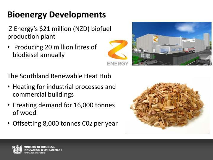 Bioenergy Developments
