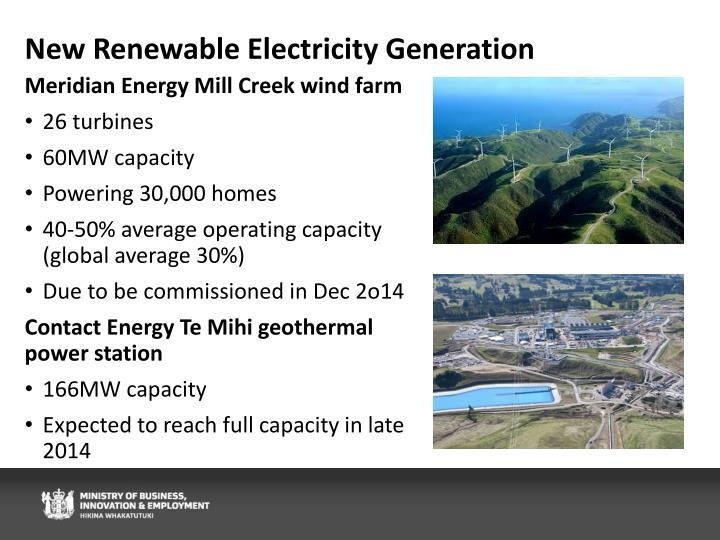 New Renewable Electricity Generation
