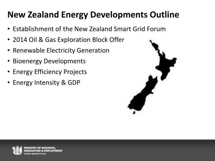 New zealand energy developments outline