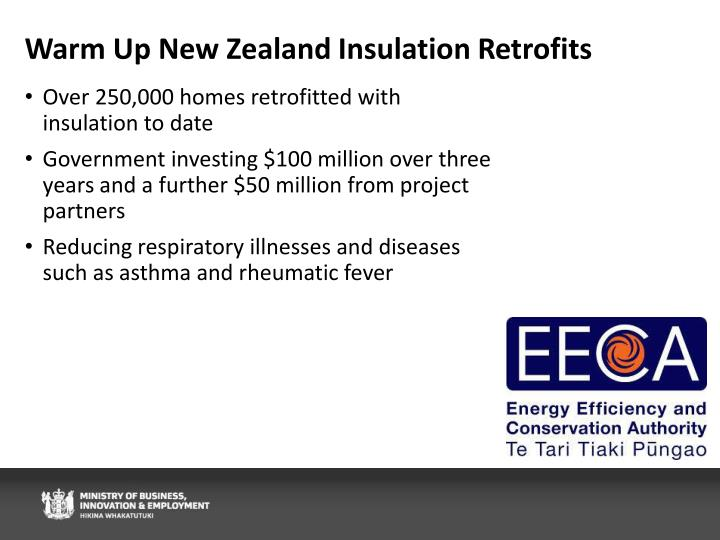 Warm Up New Zealand Insulation Retrofits